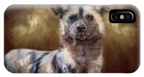 Painted Dog Portrait II IPhone Case