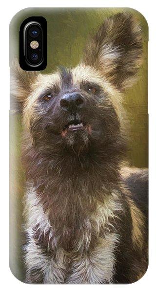 Painted Dog Portrait IPhone Case
