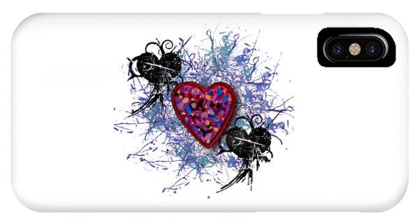 Painted Heart 3 IPhone Case