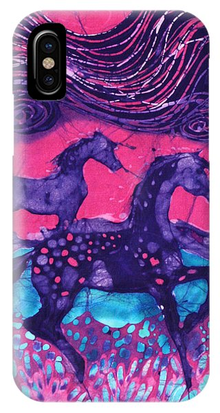 Painted Horses Below The Wind IPhone Case