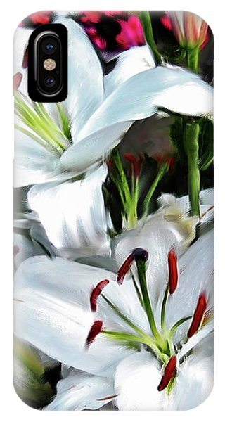 iPhone Case - Painted Lilies by Bill Linn