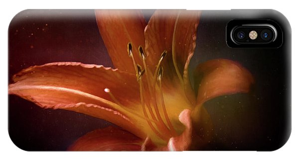 Digital Effect iPhone Case - Painted Lily by Scott Norris