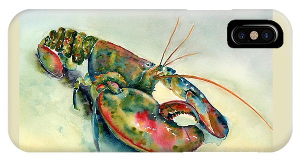 Painted Lobster IPhone Case