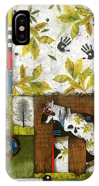 Painted Mare, Shaggy Bark Hickory  IPhone Case