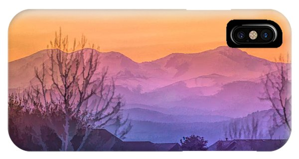 Painted Mountains IPhone Case