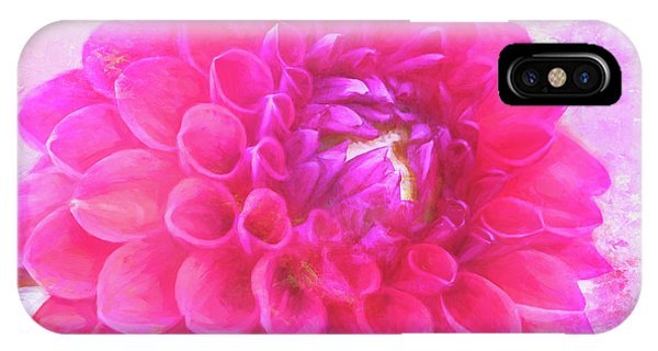 Painted Pompom Dahlia With The Works IPhone Case