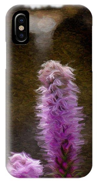 Painted Purple Flower IPhone Case
