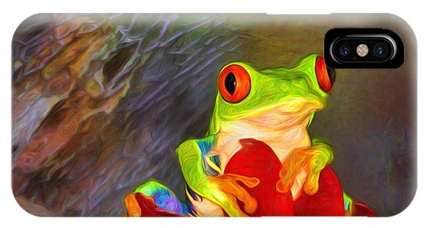 Painted Red Eyed Tree Frog IPhone Case