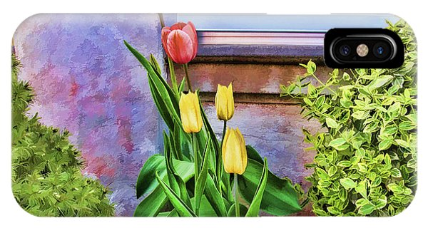 Painted Tulips IPhone Case