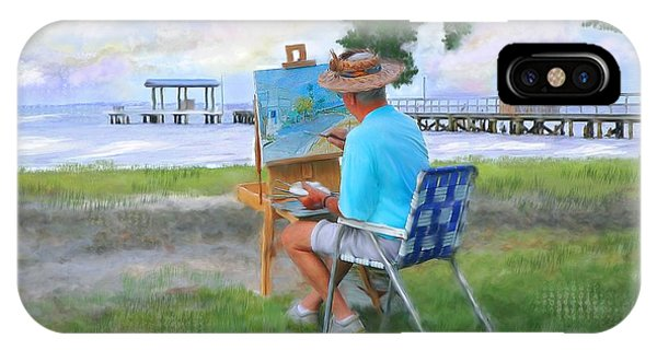 Painter On The Beach IPhone Case