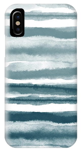 Painterly Beach Stripe 1- Art By Linda Woods IPhone Case