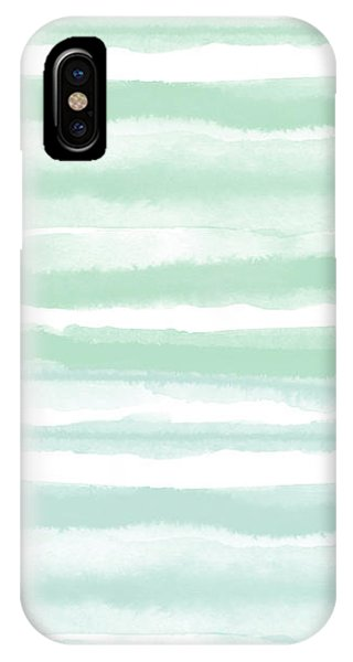 Painterly Beach Stripe 2- Art By Linda Woods IPhone Case