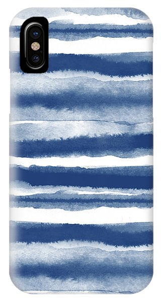Painterly Beach Stripe 3- Art By Linda Woods IPhone Case