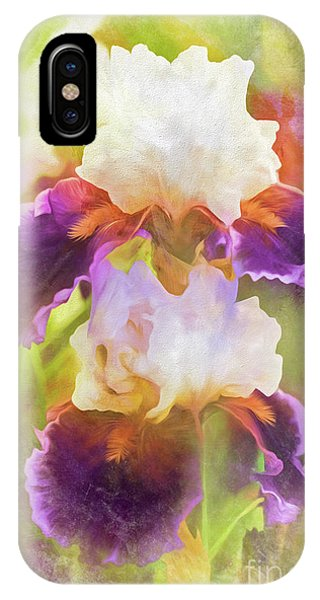 Painterly Bearded Iris IPhone Case