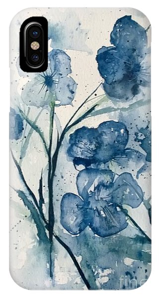 Painterly  Blues IPhone Case