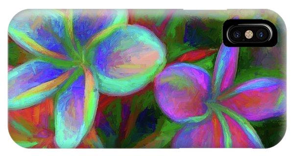 Painterly Frangipanis IPhone Case