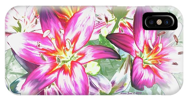 Painterly Pink Tiger Lilies IPhone Case