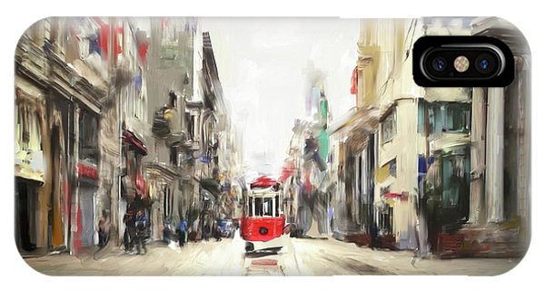 Avenue iPhone Case - Painting 761 1 Istiklal Street by Mawra Tahreem