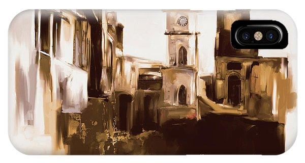 Clock iPhone Case - Painting 790 4 Cunningham Clock Tower by Mawra Tahreem