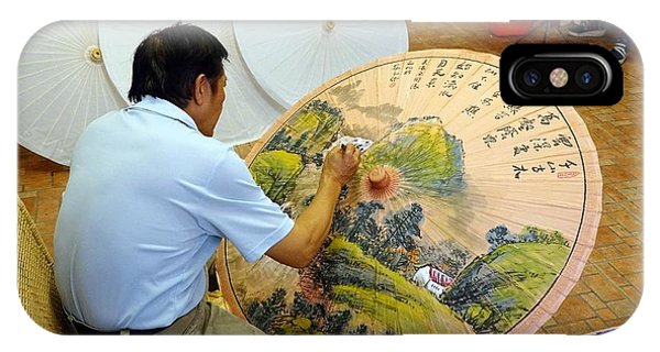 IPhone Case featuring the photograph Painting Chinese Oil-paper Umbrellas by Yali Shi