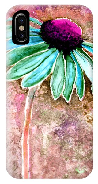 IPhone Case featuring the painting Painting Cone Flower 8615d by Mas Art Studio