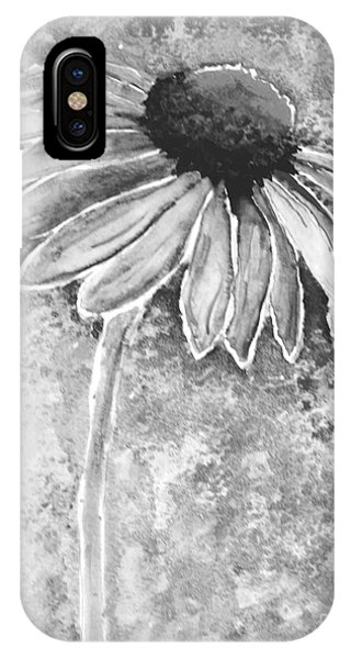 IPhone Case featuring the painting Painting Cone Flower 8615e by Mas Art Studio