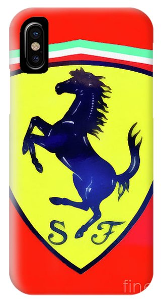Painting Of Ferrari Badge IPhone Case