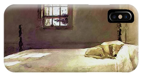 Painting Of The Print, Master Bedroom IPhone Case