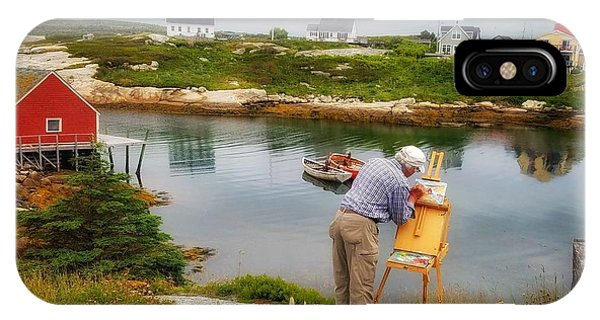 Painting Peggys Cove IPhone Case