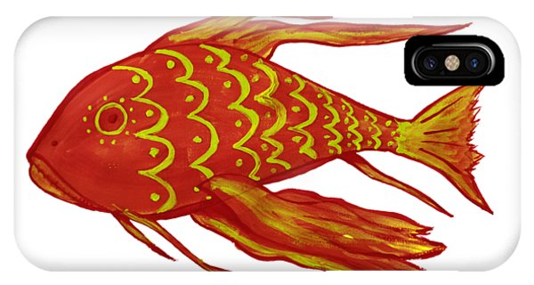 Painting Red Fish IPhone Case