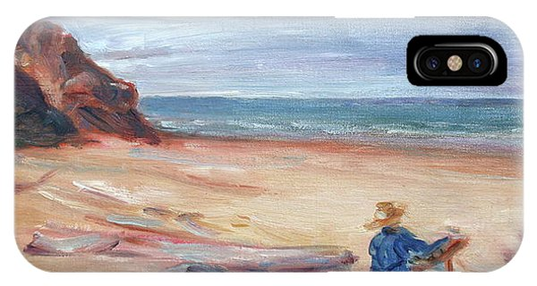 Painting The Coast - Scenic Landscape With Figure IPhone Case