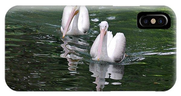 Pair Of Pelicans Phone Case by Teresa Blanton