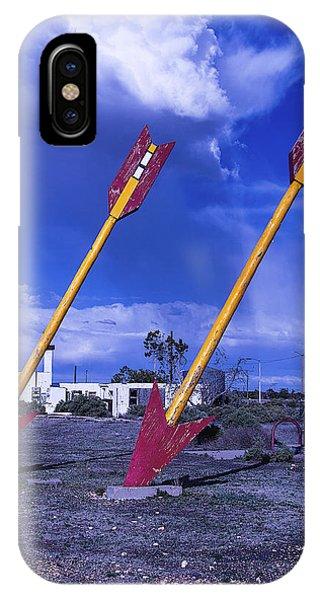 Timeworn iPhone Case - Pair Of Roadside Arrows by Garry Gay