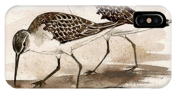 Pair Of Sandpipers IPhone Case