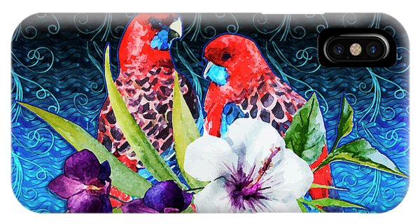 Paired Parrots IPhone Case