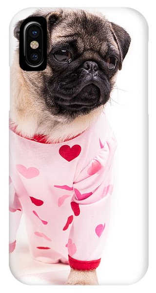 Pug iPhone X Case - Pajama Party by Edward Fielding