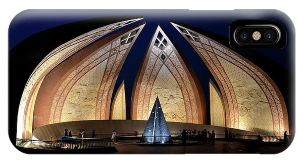 Pakistan Monument Illuminated At Night Islamabad Pakistan IPhone Case