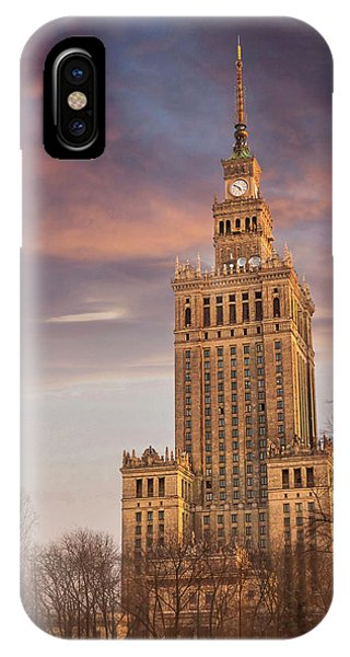 Palace Of Culture And Science Warsaw Poland  IPhone Case