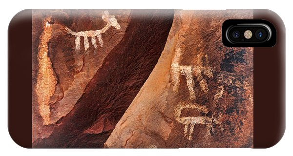 Palatki Pictographs9 Pnt IPhone Case