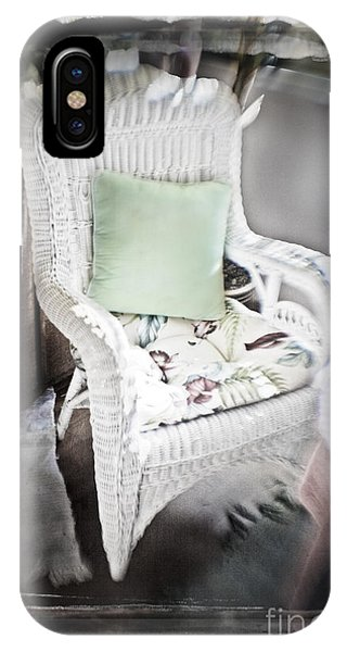 Pale Green Pillow Chair IPhone Case