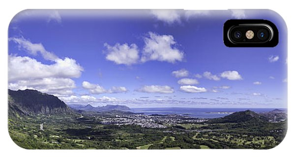 Pali Lookout Panorama IPhone Case