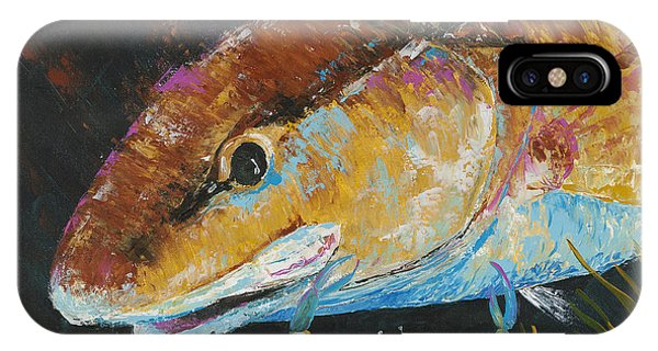 Pallet Knife Redfish And Blue Crab IPhone Case