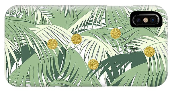Palm And Gold IPhone Case
