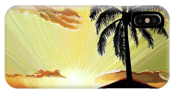 Palm Beach Sunset IPhone Case