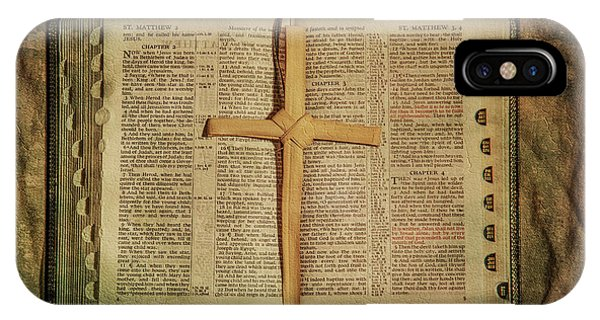 Palm Branch Cross And Bible IPhone Case