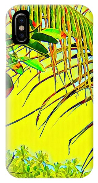 Palm Fragment In Yellow IPhone Case