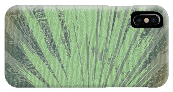 Cypress iPhone Case - Palm Frond Green Gold by Marvin Spates