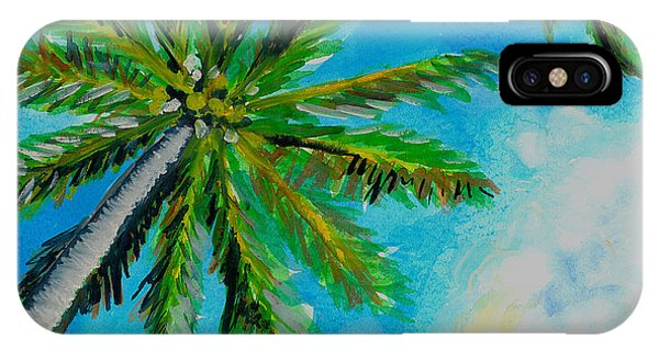 Palm In The Sky IPhone Case