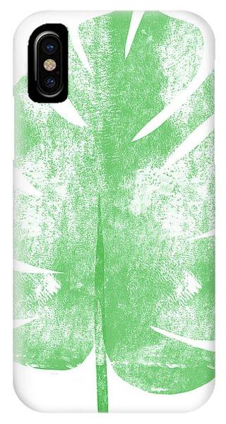 Simple iPhone Case - Palm Leaf- Art By Linda Woods by Linda Woods