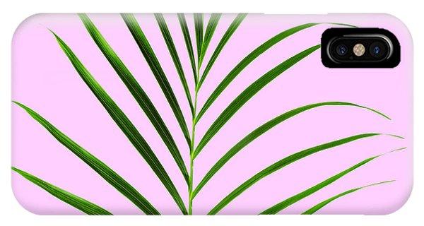 Leaf iPhone Case - Palm Leaf by Tony Cordoza